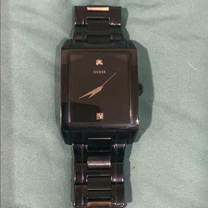 Guess Mens Genuine Diamond Watch